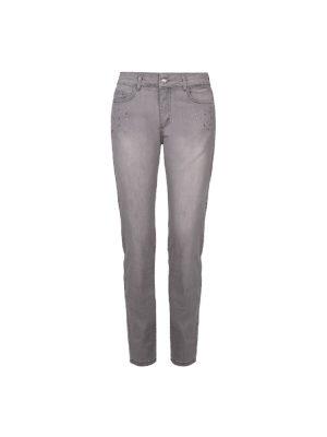 Jeans Dolcezza – Gris clair et strass