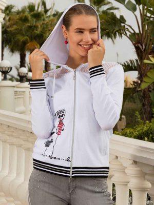 Veste zippée avec capuche stylisée Luc Villard